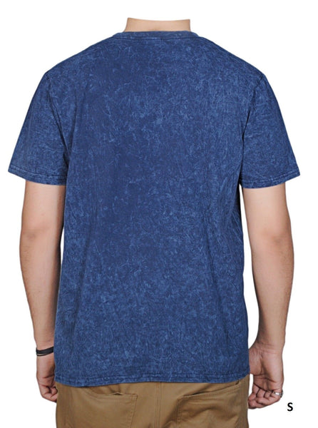 NEW LOOK Classic Acid Washed Blue T-Shirt for Men