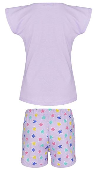MINIONS Despicable Me Girls Short Sleeve Pyjama - White