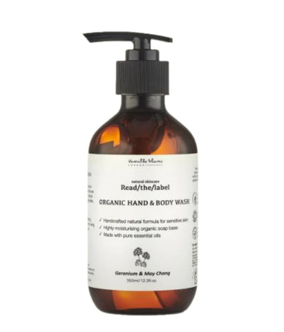 Vanilla Blanc Read/The/Label Organic Hand & Body Wash, Handcrafted Skin Care