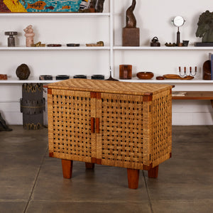 ON HOLD ** Woven Rattan Credenza by Michael van Beuren