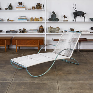 Walter Lamb for Brown Jordan Bronze Patio Chaise Lounge