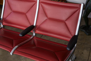 Eames for Herman Miller Seating System in Brick Red