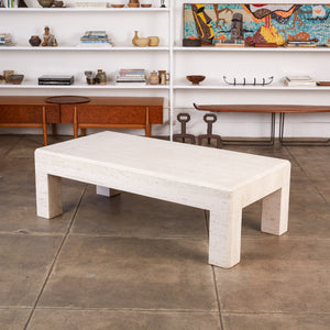 ON HOLD ** Postmodern Italian Travertine Coffee Table