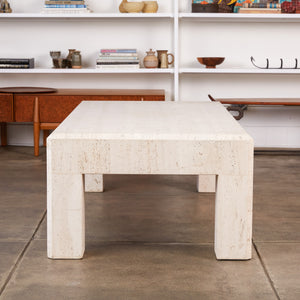 Postmodern Italian Travertine Coffee Table