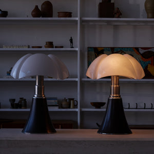 Pair of Black Pipistrello Table Lamps by Gae Aulenti