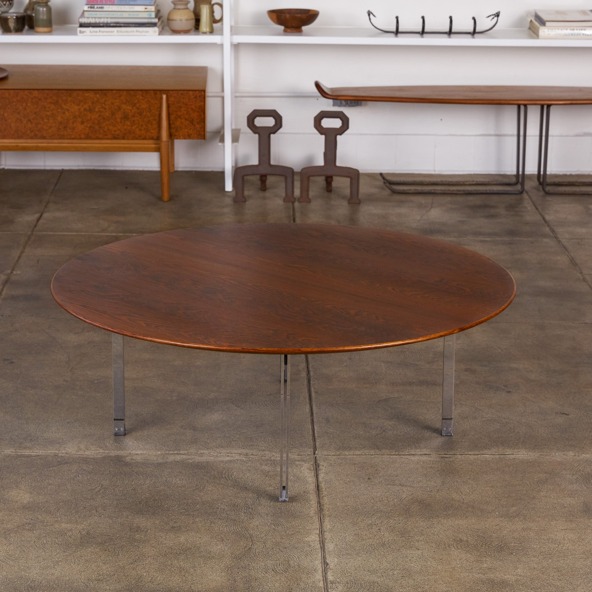 Florence Knoll Rosewood Parallel Bar Coffee Table