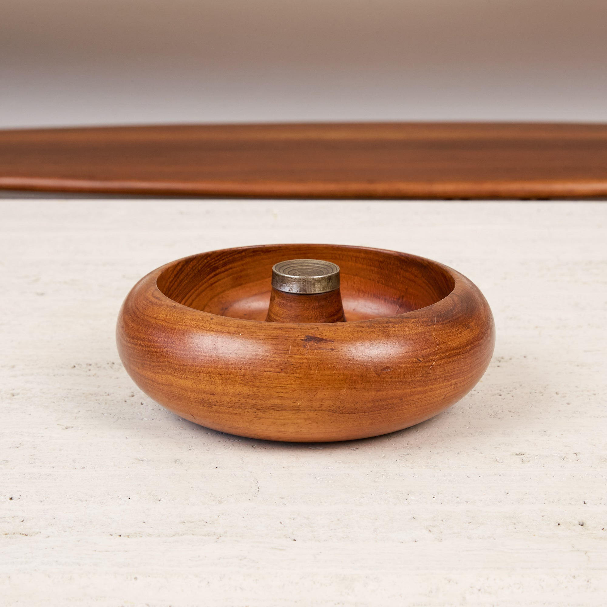 Turned Walnut and Brass Nut Bowl by Pelican of Australia