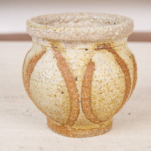 Studio Pottery Stoneware Vessel with Painterly Glaze