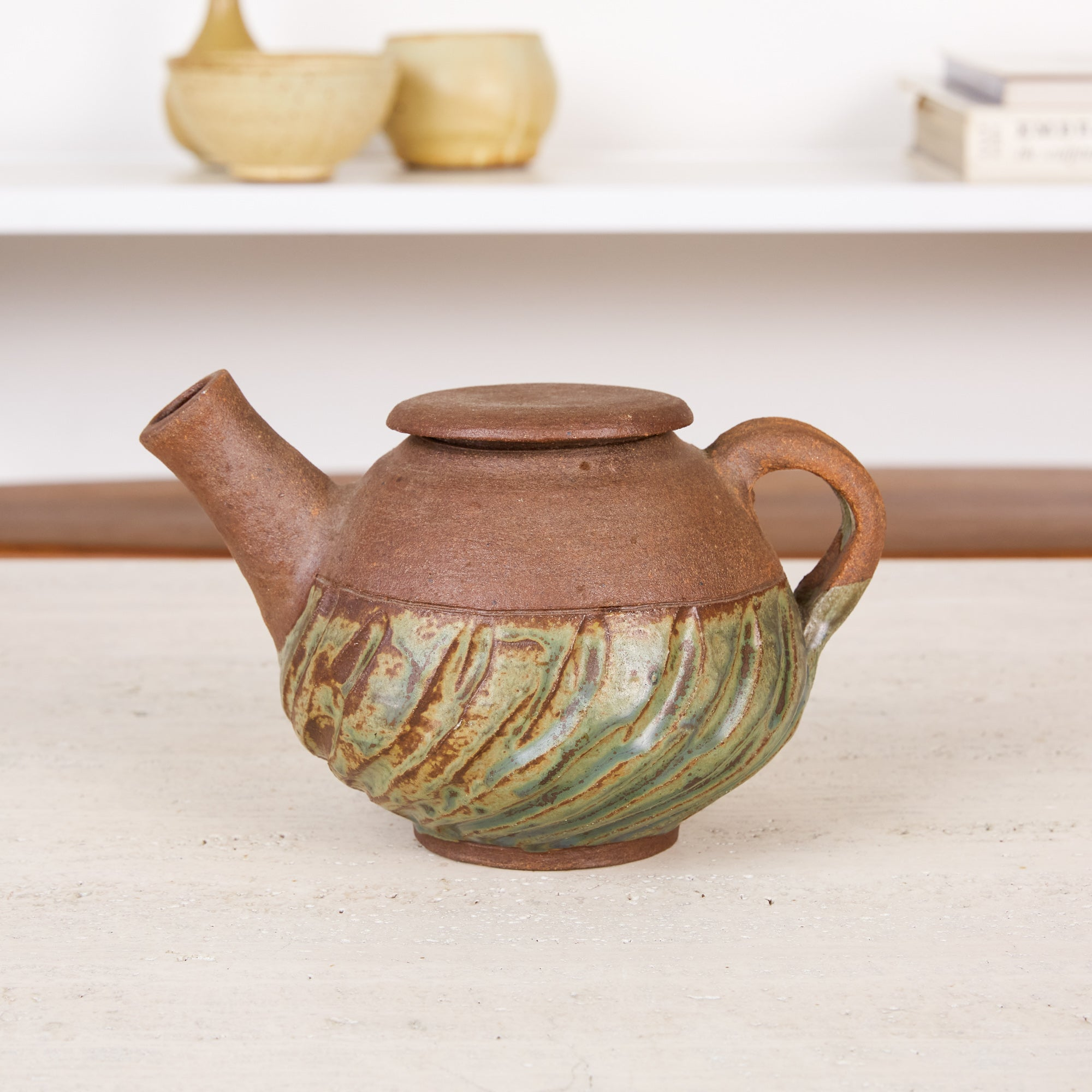 Ceramic Teapot with Glazed Base
