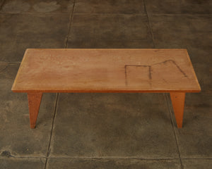 Studio Craft Patinated Wood Coffee Table
