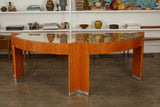 Pace Collection Lacewood Mezzaluna Desk