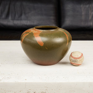 Studio Ceramic Vessel with Painterly Accents