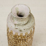 Studio Ceramic Vessel with Incised Geometric Pattern