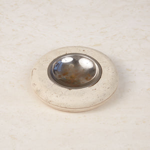 Fratelli Mannelli  Travertine Ashtray with Metal Dish