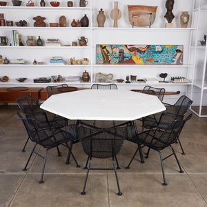 "ON HOLD ** Russell Woodard Patio Dining Set with Eight ""Sculptura"" Chairs"