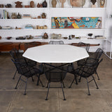 "Patio Dining Set with Eight ""Sculptura"" Chairs by Russell Woodard"