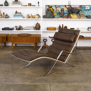 "Fabricius & Kastholm FK87 ""Grasshopper"" Leather Chaise"