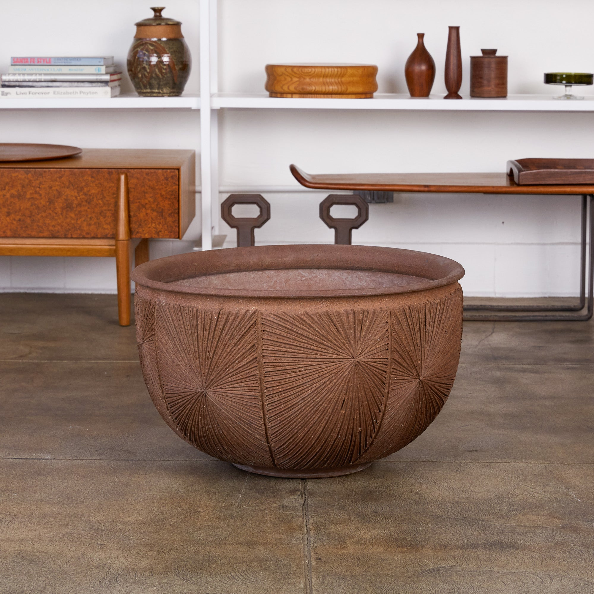 "David Cressey & Robert Maxwell for Earthgender ""Sunburst"" Bowl Planter"