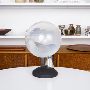 Swedish Modern Glass Globe Table Lamp by Kosta