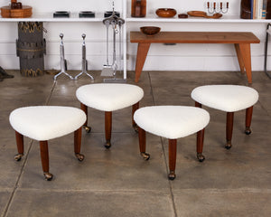 Set of Four Adrian Pearsall Upholstered Stools