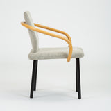 Ettore Sottsass for Knoll Set of Four Mandarin Chairs with Bamboo Arms