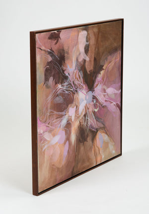 Monochromatic Abstract Floral Painting