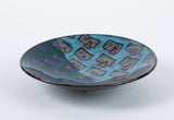 1980s Studio Pottery Bowl with Geometric Motif