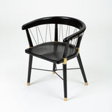 ON HOLD ** Set of 8 Dunbar Style Ebonized Dining Chairs with String
