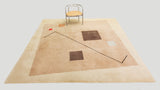 Tisca Postmodern Hand-Tufted Square Area Rug