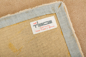 1980s Hand-Tufted Square Area Rug by Tisca