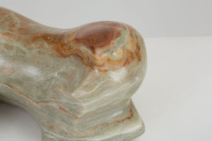 Abstract Curved Marble Sculpture