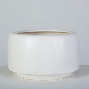 John Follis for Architectural Pottery White-Glazed CP-17 Tire Planter