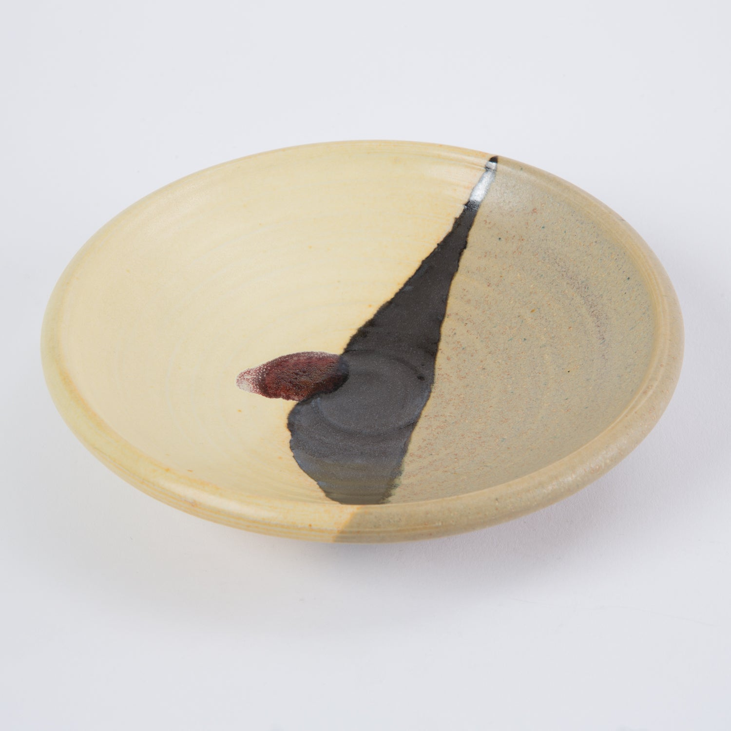 Otto Heino Small Ceramic Dish with Yellow Glaze