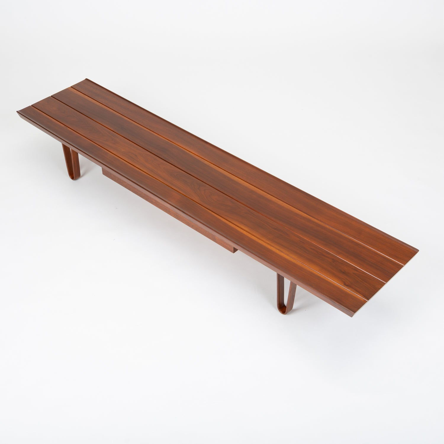 "Edward Wormley for Dunbar Walnut ""Long John"" Bench"