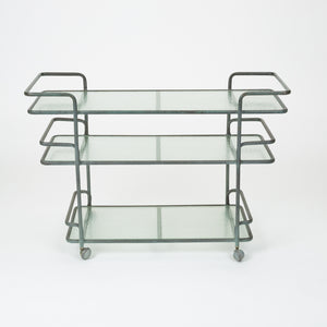 Bronze Bar Cart by Richard Frinier for Brown Jordan