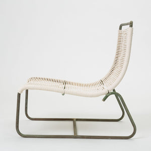Pair of Bronze Patio Sleigh Chairs by Walter Lamb for Brown Jordan