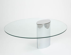 Knoll Glass Dining Table by Cini Boeri