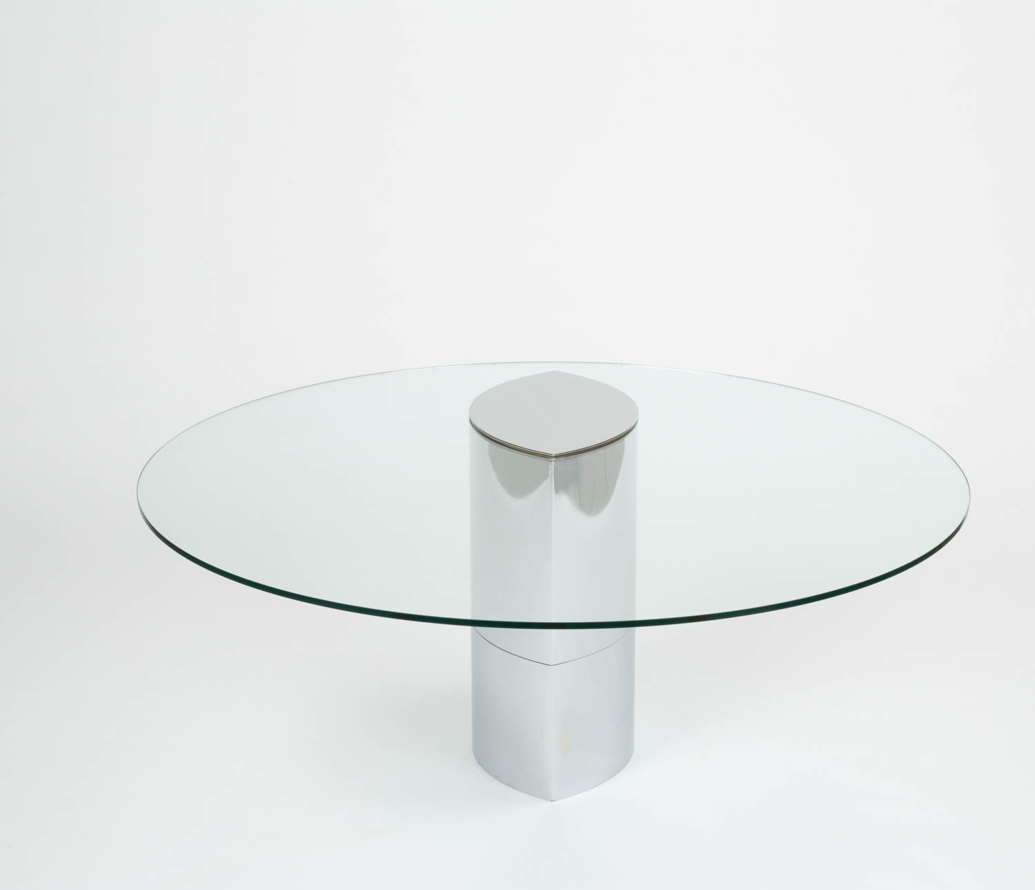 Glass Dining Table by Cini Boeri for Knoll