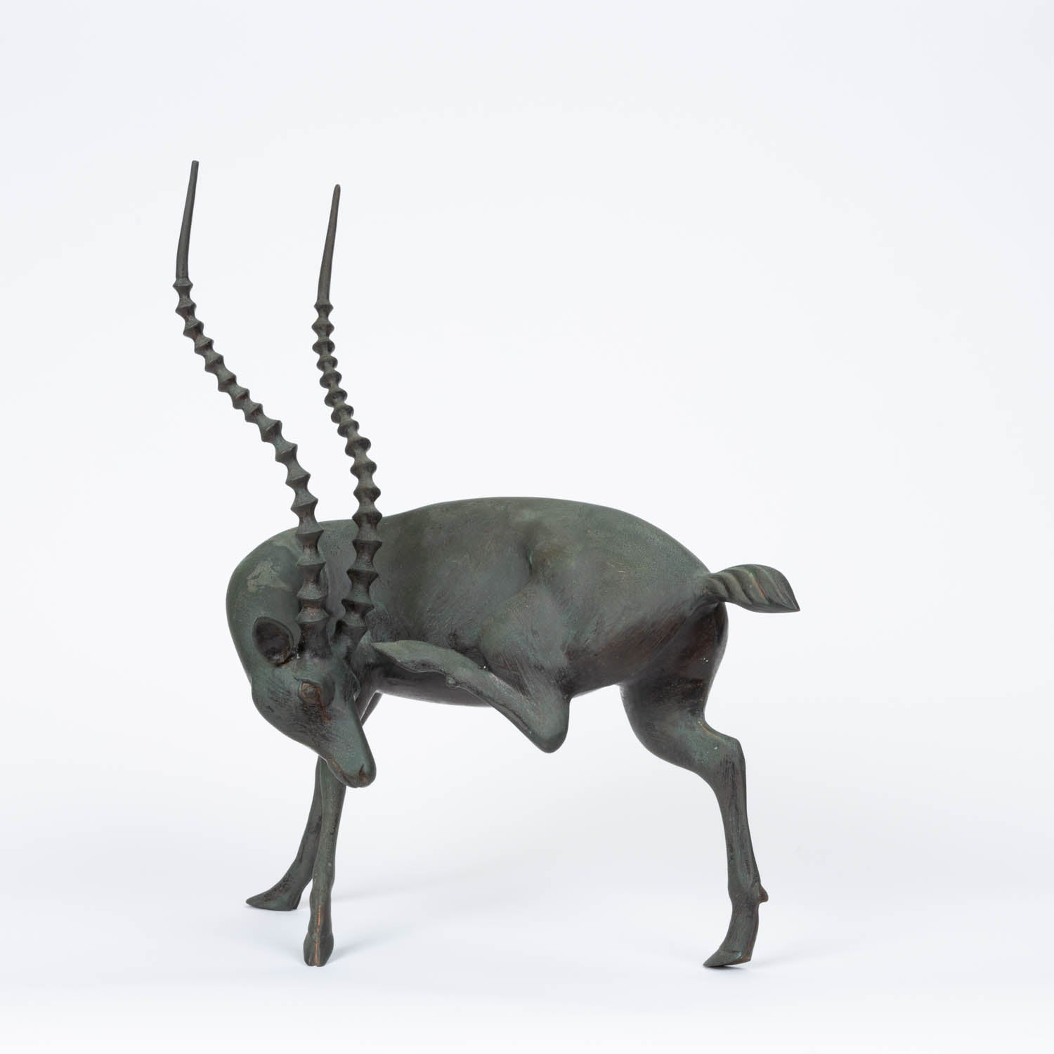 Bronze Sculpture of Gazelle