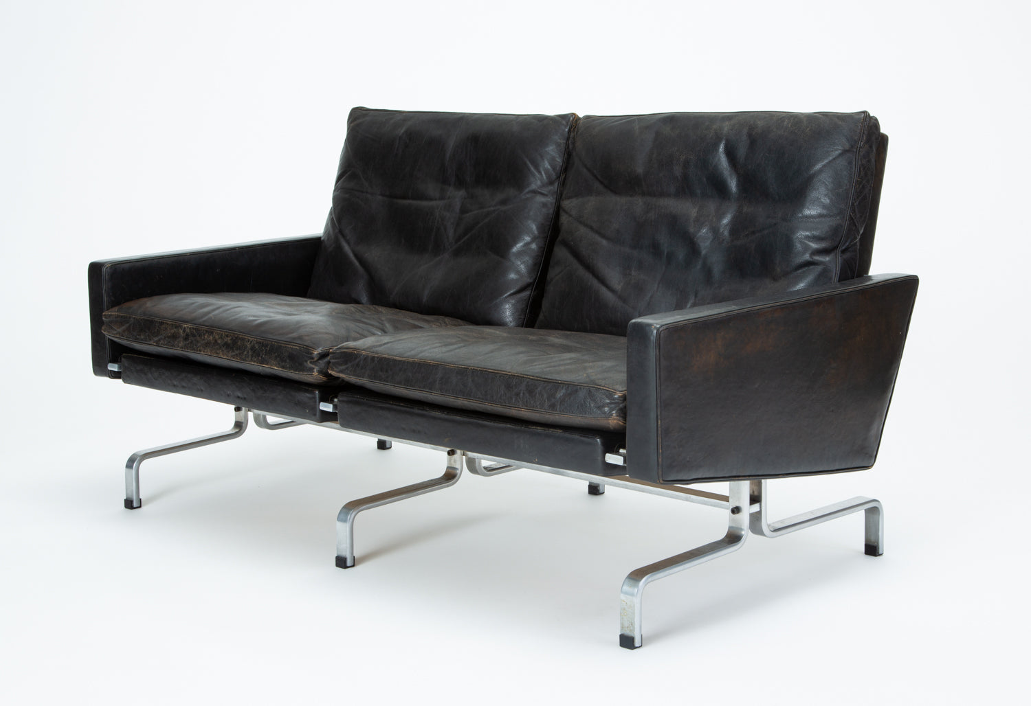 Poul Kjaerholm PK 31/2 Loveseat for E. Kold Christensen