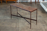 Patinated Metal Console Table