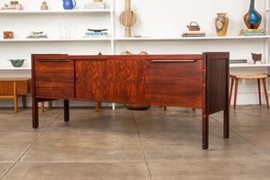 Rosewood Credenza with File Drawers