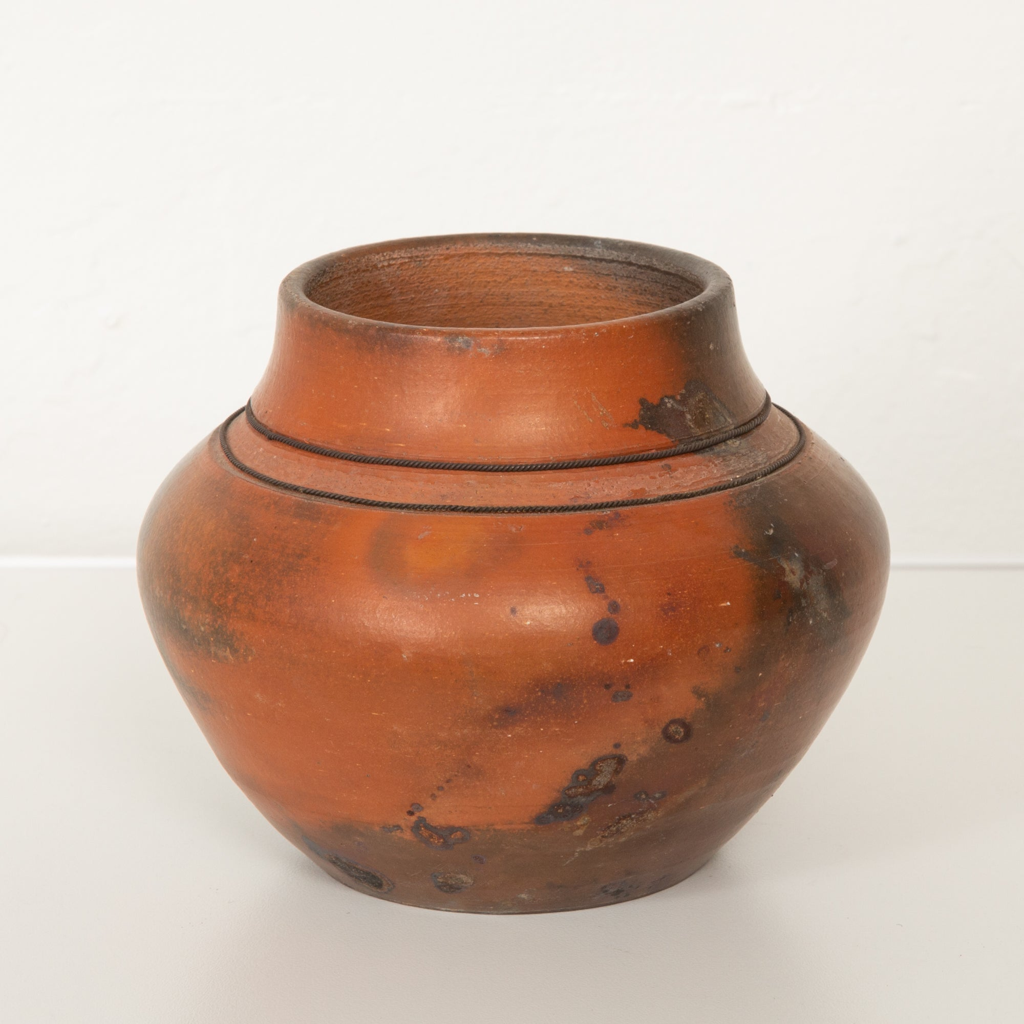Studio Ceramic Vase with Raku Glaze