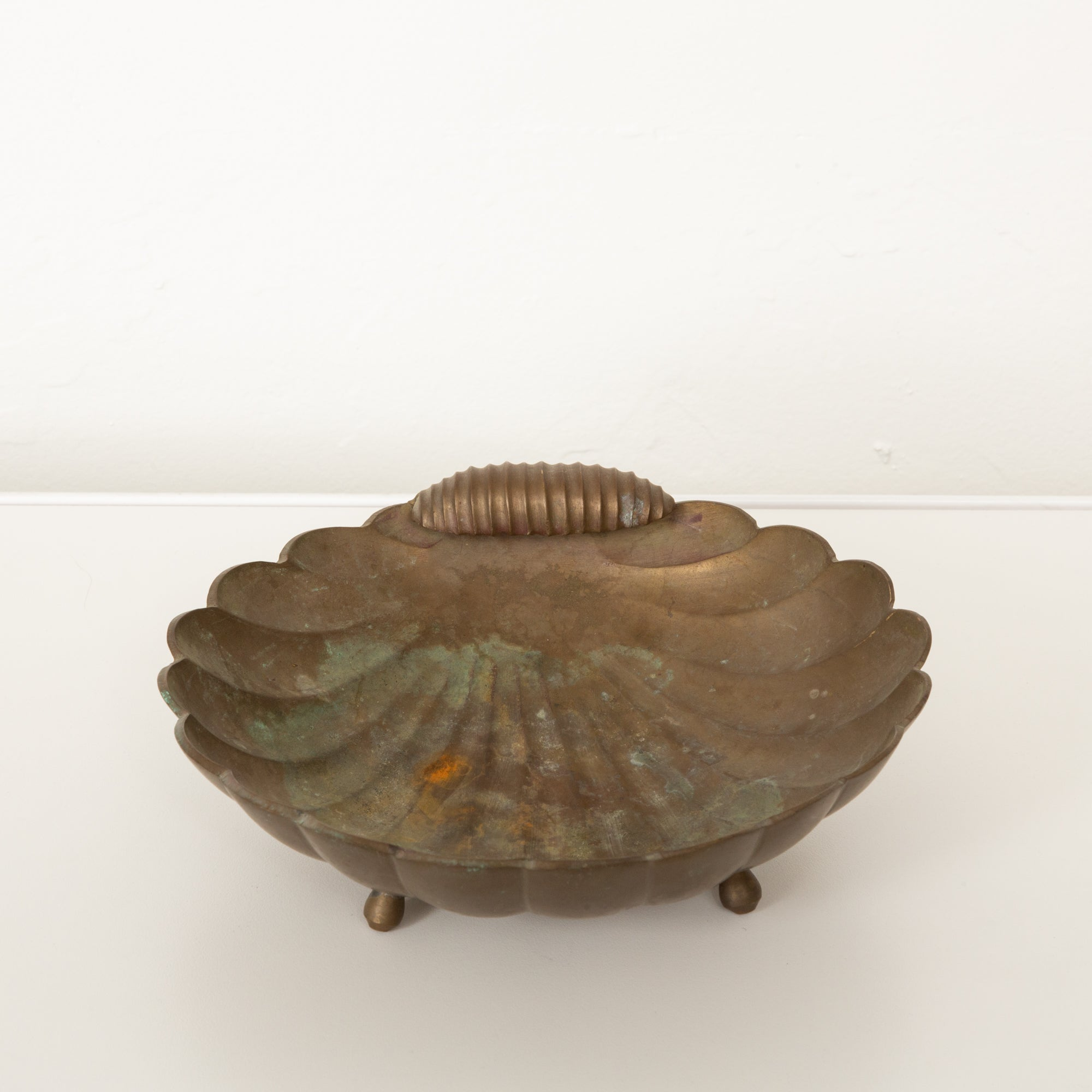 Cast Bronze Shell Catchall Tray
