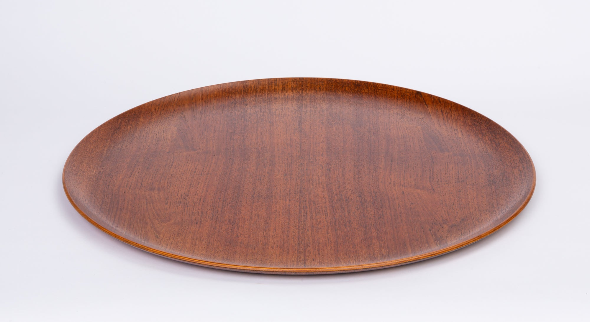 Jens Quistgaard Style Teak Tray with Curved Edge