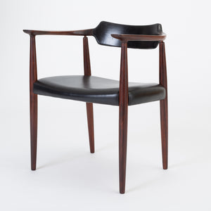Bent Andersen Rosewood and Leather Armchair for Christensen & Larsen