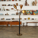 Greta Grossman Style Three Headed Floor Lamp