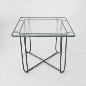 Bronze Patio Square Dining Table by Walter Lamb for Brown Jordan