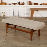 Jens Risom Walnut Bench
