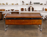 Peter Protzman for Herman Miller Zebrawood & Chrome Credenza